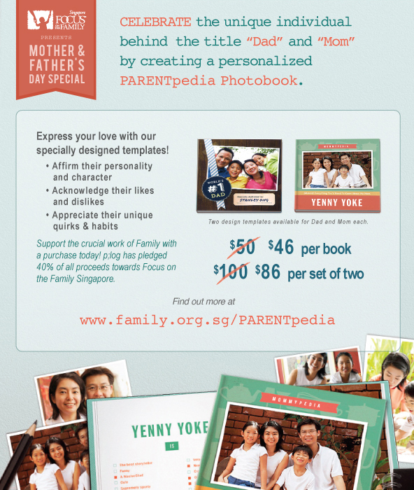 Celebrate Mother and Father's Day with a PARENTpedia Photobook!