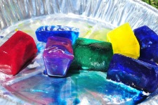 Colored Ice Cubes by Wadleigh Library